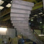 precast concrete curved stair