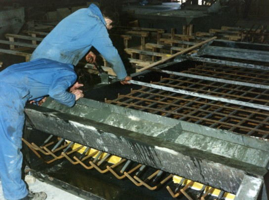 Placing reinforcement in mould