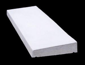 Concrete coping - once weathered