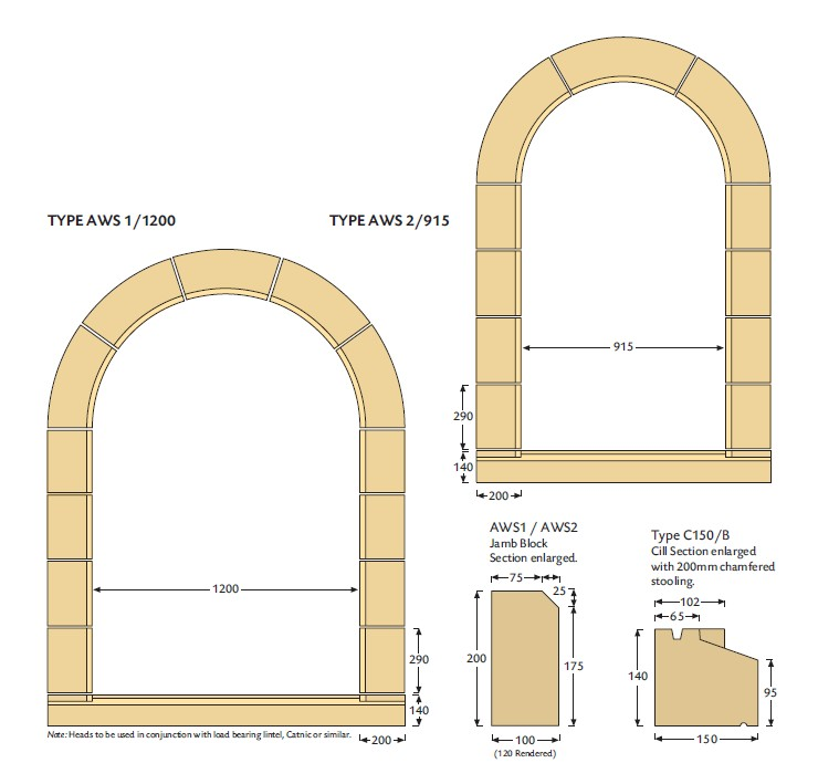 Arched window surround