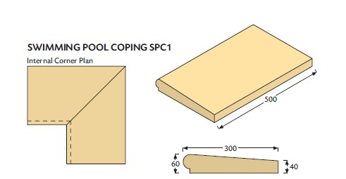 cast stone coping for swimming pools